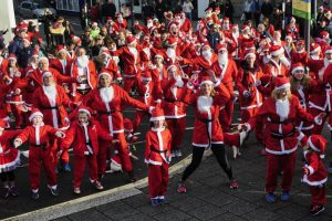 The Cornwall Hospice Care Falmouth Santa Run on Saturday: Picture by Colin HiggsThe Cornwall Hospice Care Falmouth Santa Run on Saturday: Picture by Colin Higgs