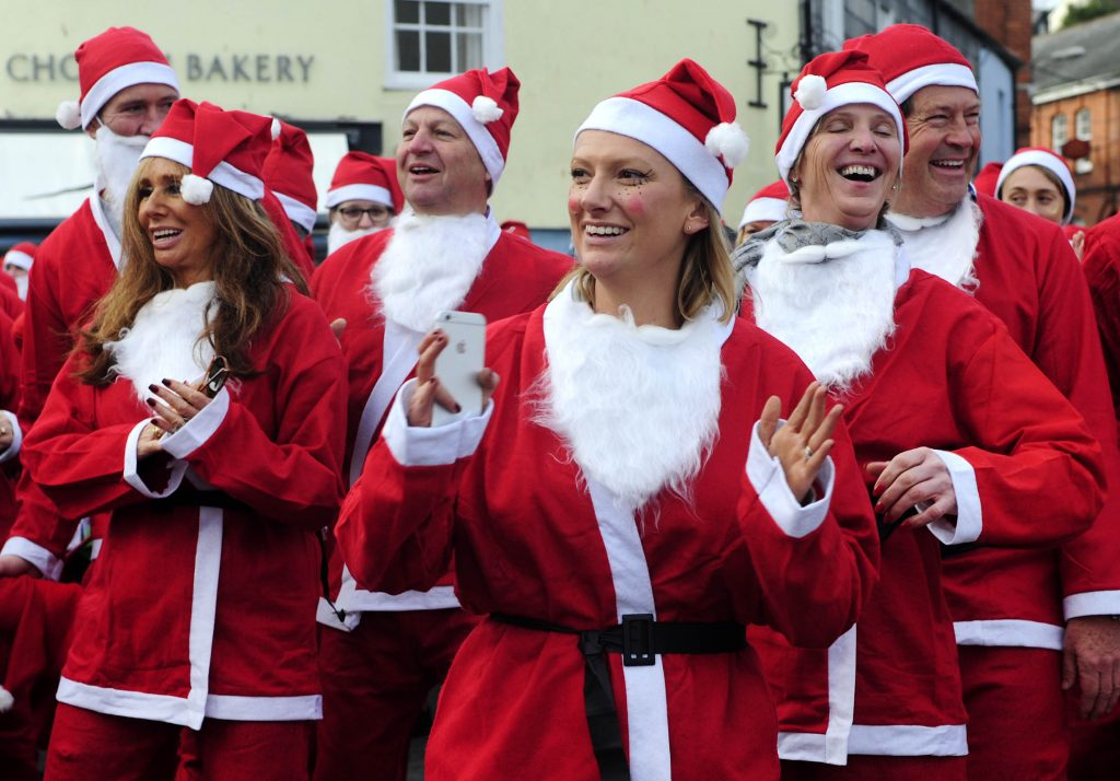 The Cornwall Hospice Care Truro Santa Bike Ride and Santa Run at Padstow on Saturday: Picture by Colin Higgs