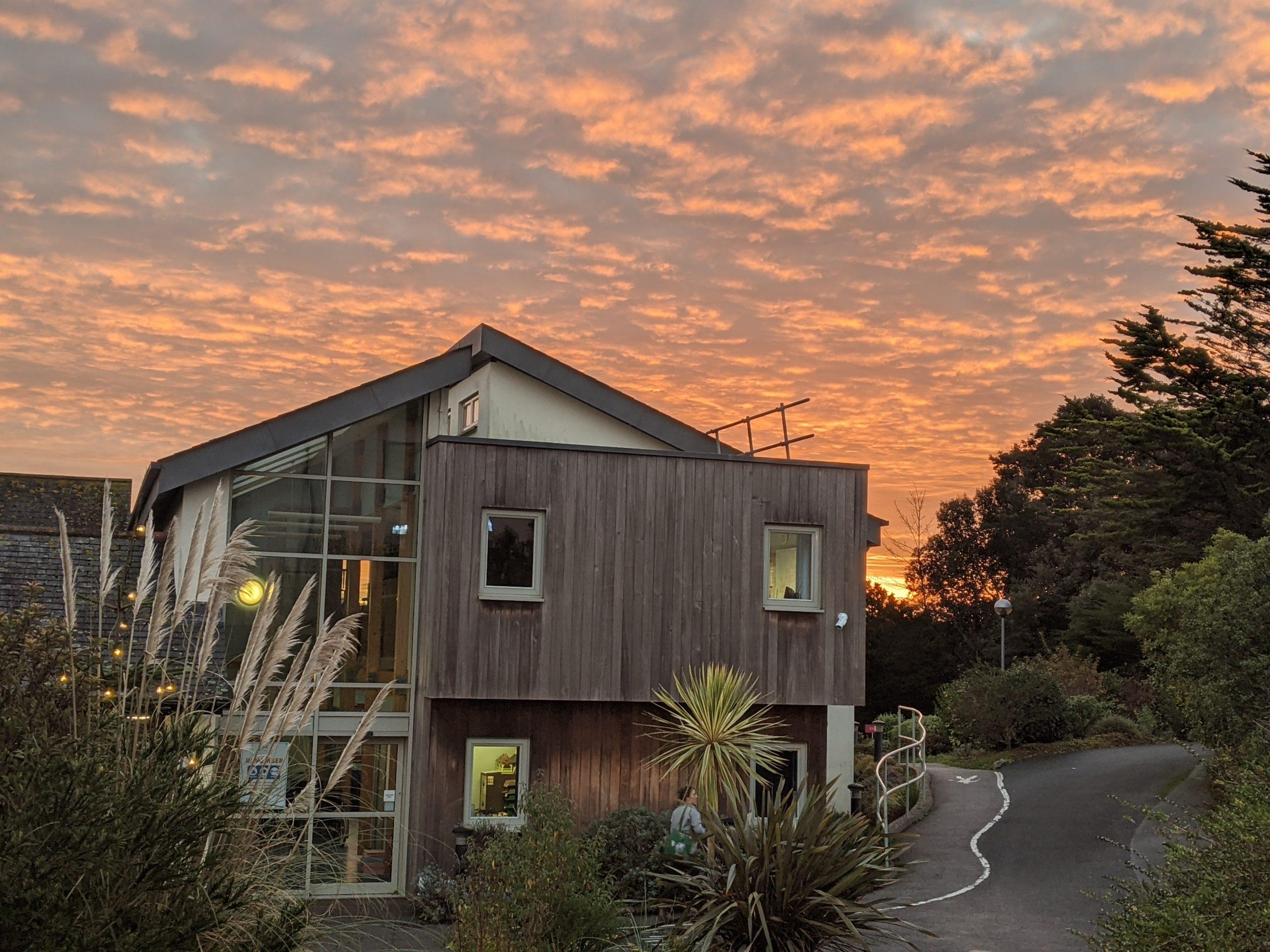 St Julia's Hospice sunset